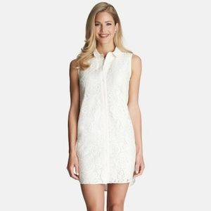 CeCe by Cynthia Steffe Sleeveless Lace Shirtdress